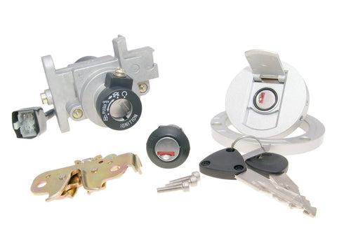 ignition switch / key switch lock set for Peugeot Speedfight 3, 4 AC, LC