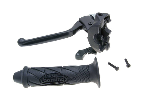 clutch lever fitting w/ choke and grip for Derbi GPR 50, MH Racing RX 50, RYZ, Peugeot XR6, XPS, Rieju RS2, RS3