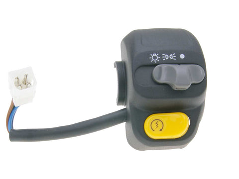right-hand switch assy for E-starter, w/ light switch for MBK Skyliner, Yamaha Majesty 98-00