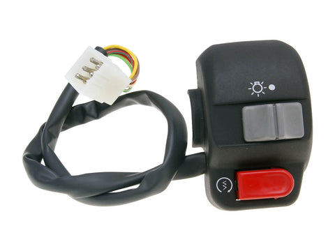 right-hand switch assy for E-starter, w/ light switch - universal