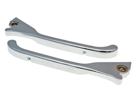 brake lever set Buzzetti chrome for Vespa GTS, GTV, LX, LXV