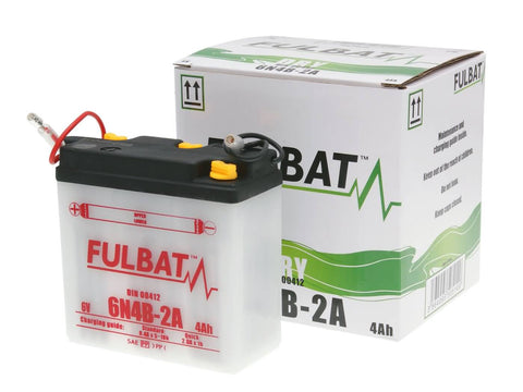 battery Fulbat 6V 6N4B-2A DRY incl. acid pack