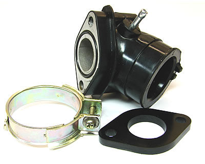 intake manifold with insulator spacer for 24mm carburetor 4-stroke
