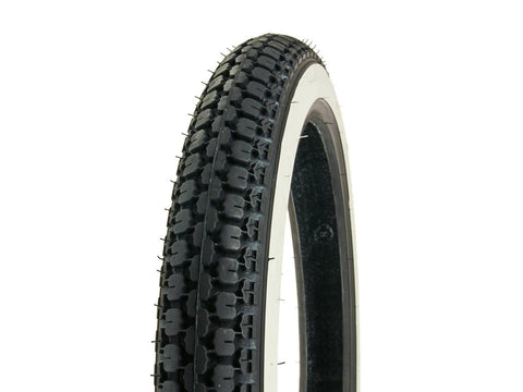 tire IRC NR-7 2.75-17 41P TT whitewall / white sidewall