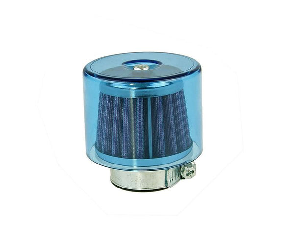 air filter Air-System metal gauze filter 35mm straight version blue shield