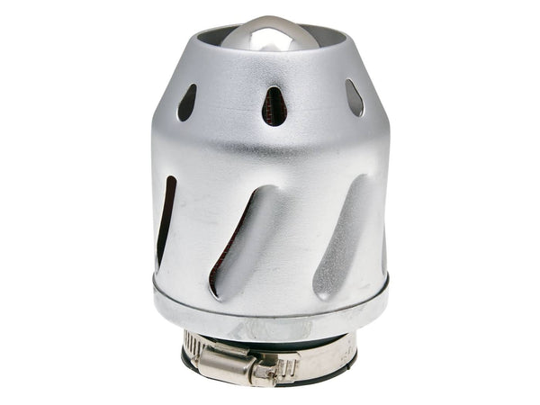 air filter Grenade silver straight version 35/48mm carb connection (adapter)