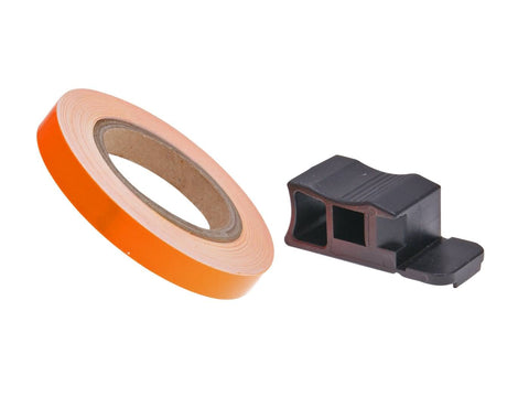 rim tape / wheel stripe 7mm - neon orange - 600cm