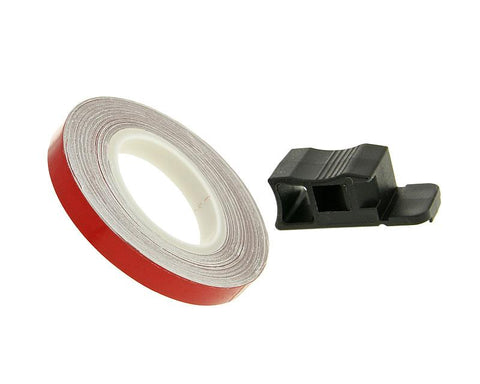 rim tape / wheel stripe 7mm - red - 600cm