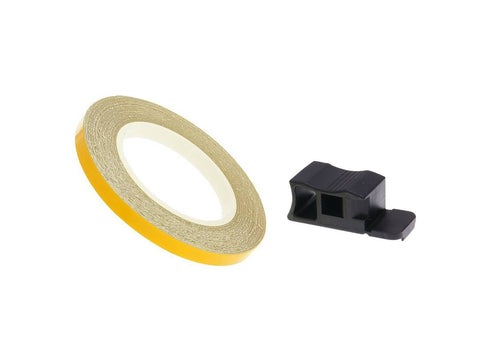 rim tape / wheel stripe 7mm - yellow - 600cm