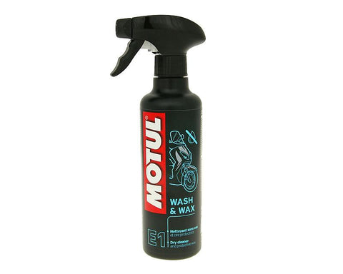 Motul MC Care E1 Wash & Wax dry cleaner and protective pump spray 400ml