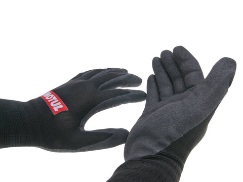 work gloves Motul nitrile coated size 9