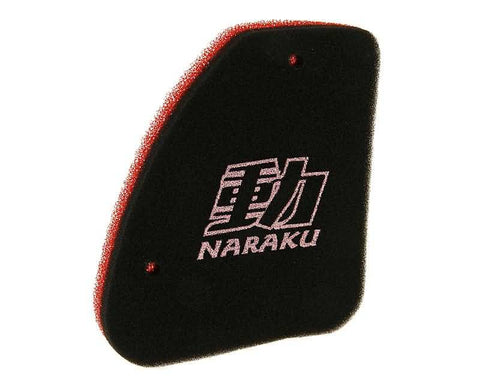 air filter foam insert Naraku double layer for Peugeot vertical