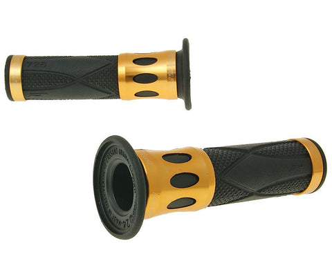 handlebar grip set ProGrip 728 Road aluminum black, gold look