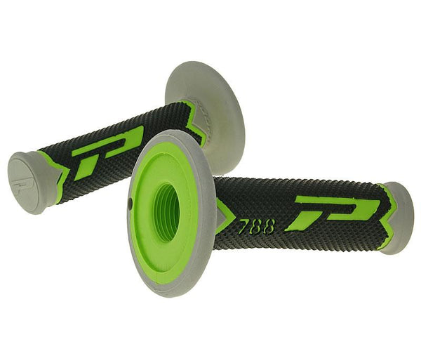 handlebar grip set ProGrip 788 MX Triple Density - black gray green