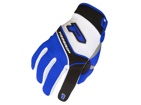 gloves ProGrip MX 4010 white-blue size S