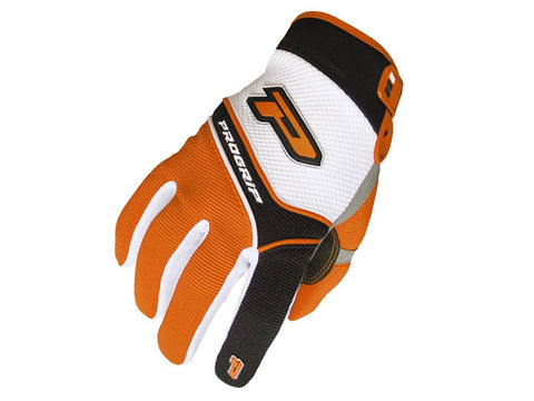 gloves ProGrip MX 4010 white-orange size S