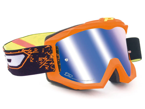 MX goggle ProGrip 3204 FLUO MATT orange/blue