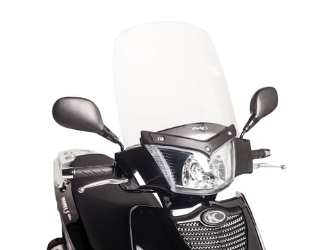 windshield Puig T.S. transparent / clear for Kymco People S 50, 125, 200i, 300i (07-14)