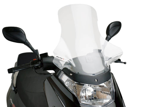 windshield Puig V-Tech Touring transparent / clear for Kymco Dink, Yager GT 50-200i