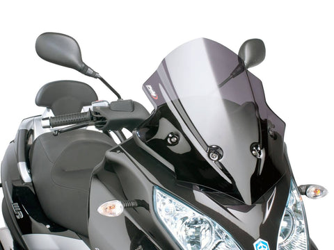 windshield Puig V-Tech Sport dark smoke for Piaggio MP3 300ie LT Sport 2014