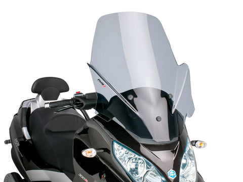 windshield Puig V-Tech Touring dark smoke for Piaggio MP3 Touring 400ie 2012