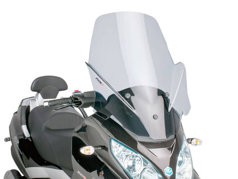 windshield Puig V-Tech Touring smoke for Piaggio MP3 Touring 400ie 2012