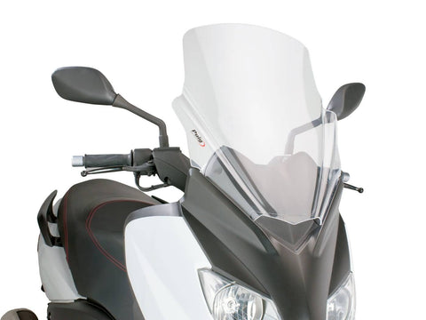 windshield Puig V-Tech Touring transparent / clear for Yamaha X-Max 125 YP125R 10-14
