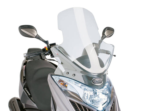 windshield Puig V-Tech Touring transparent / clear for Kymco Grand Dink, Yager GT 300i