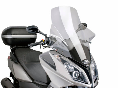 windshield Puig V-Tech Touring transparent / clear for Kymco Downtown 125i, 300i ABS 09-14