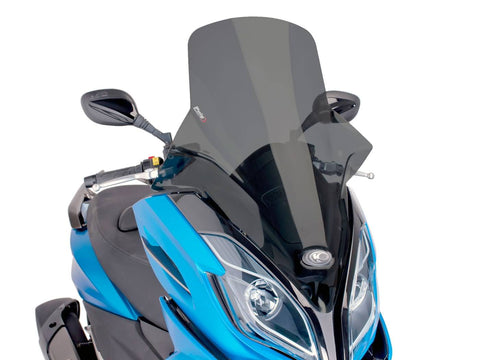 windshield Puig V-Tech Touring dark smoke for Kymco K-XCT 125i, 300i