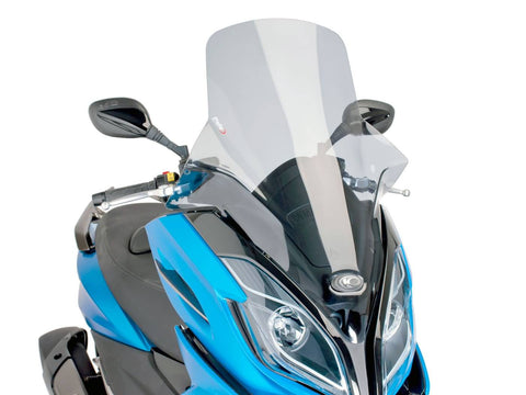 windshield Puig V-Tech Touring smoke for Kymco K-XCT 125i, 300i