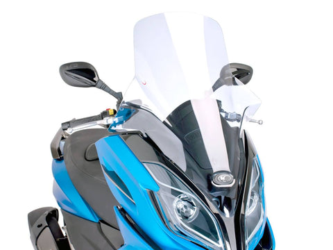 windshield Puig V-Tech Touring transparent / clear for Kymco K-XCT 125i, 300i