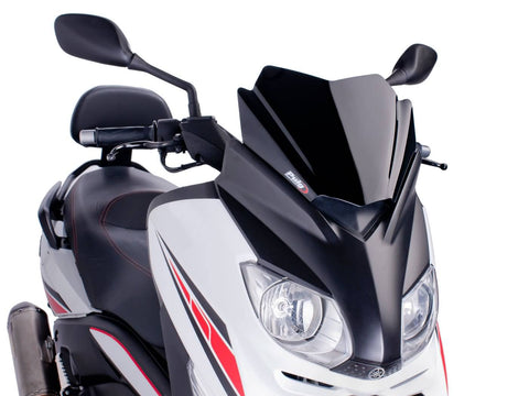 windshield Puig V-Tech Sport black for Yamaha X-Max 125 YP125R 10-14