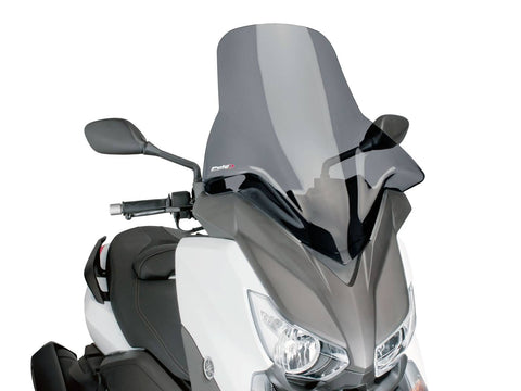 windshield Puig V-Tech Touring dark smoke for Yamaha X-Max 125, 250, 400 14-