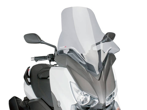 windshield Puig V-Tech Touring smoke for Yamaha X-Max 125, 250, 400 14-