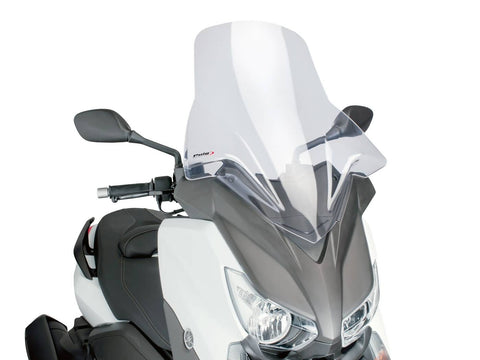 windshield Puig V-Tech Touring transparent / clear for Yamaha X-Max 125, 250, 400 14-