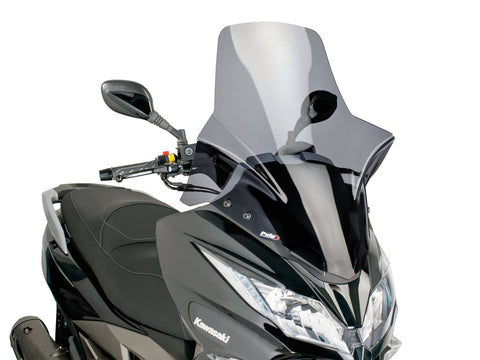 windshield Puig V-Tech Touring dark smoke for Kawasaki J300