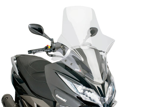 windshield Puig V-Tech Touring transparent / clear for Kawasaki J300