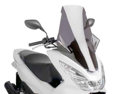windshield Puig V-Tech Touring dark smoke for Honda PCX 125i 4T 14- JF57