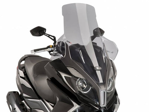 windshield Puig V-Tech Touring smoke for Kymco New Downtown 125, 350 2015-