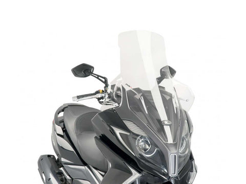 windshield Puig V-Tech Touring transparent / clear for Kymco New Downtown 125, 350 2015-