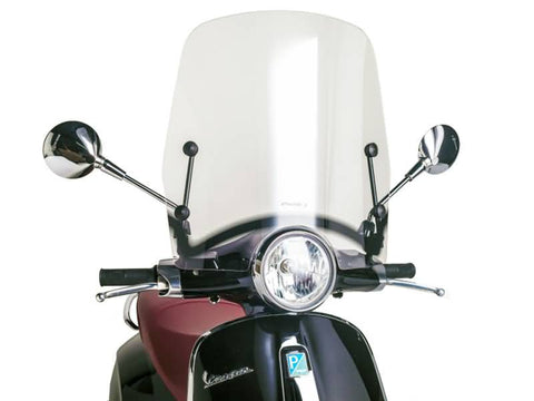 windshield Puig T.S. transparent / clear for Vespa Primavera 50, 125 2014-