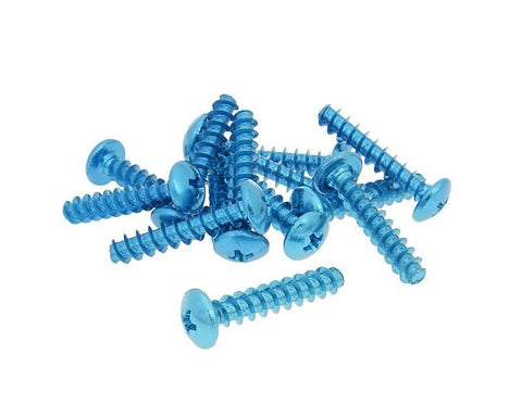 fairing screws anodized aluminum blue - set of 12 pcs - M6x30