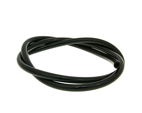 fuel hose black chloroprene rubber 1m - 4mm inner, 8mm outer diameter