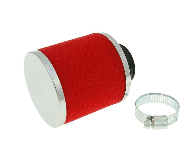 air filter Big Foam 28-35mm straight carb connection (adapter) red