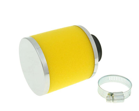 air filter Big Foam 28-35mm straight carb connection (adapter) yellow