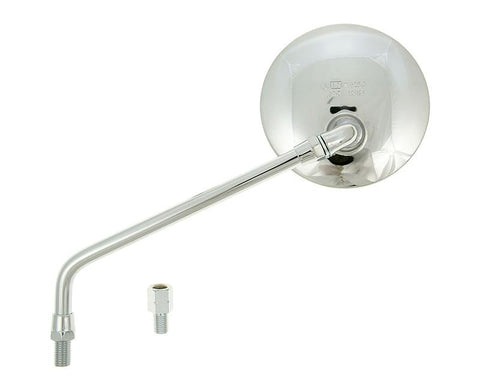 mirror round shape left / right M10 chrome