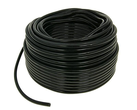 fuel hose black chloroprene rubber 50m reel - 4mm inner, 8mm outer diameter