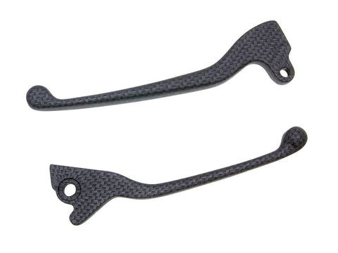 brake lever set carbon look for Vespa S 125, 150 2008-, Gilera Fuoco 500