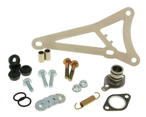 exhaust Yasuni R mounting kit complete for Minarelli horizontal